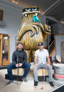 Brothers Sam (left) and Andy Largent, co-owners of the Flatstick Pub phenomenon, found what they liked and ran with it.